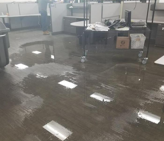 Water Damage Before in an Office in Butler, PA